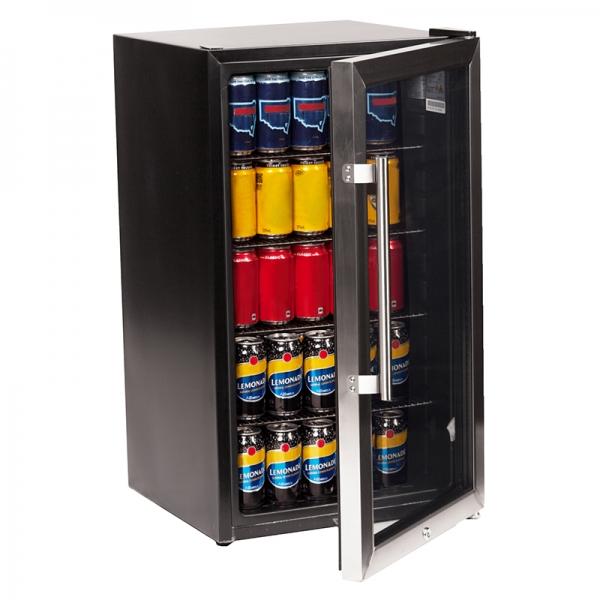 Nero 90L Glass Door Fridge - Click for more info