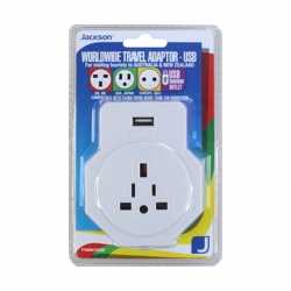 Jackson Universal Travel Adaptor with USB
