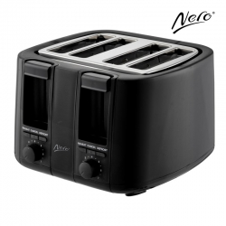 Black Toaster 4 Slice