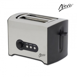 Nero 2 Slice Toaster Stainless Steel Rectangular
