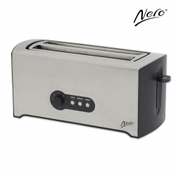 Nero 4 Slice Toaster Stainless Steel Rectangular