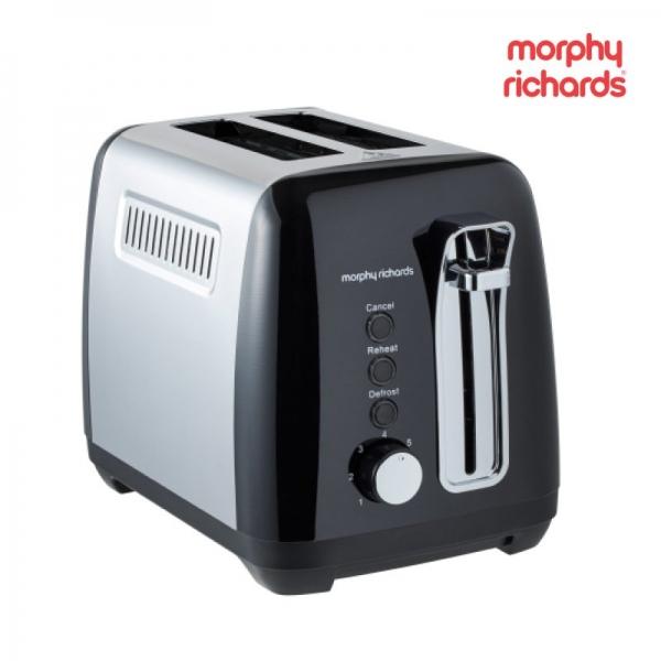 Morphy Richards Black Equip Toaster 2 Slice