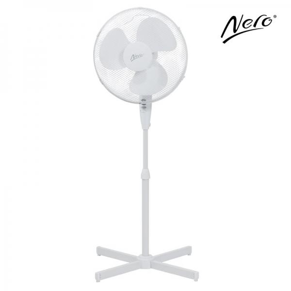 Nero 40cm Pedestal Fan White