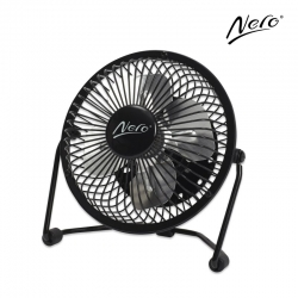 Nero USB Powered 10cm Mini Desk Fan
