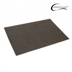 Woven PVC Placemat Brown and Black