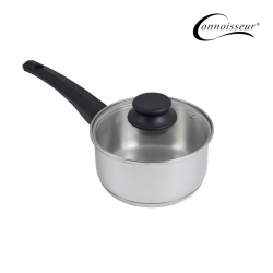 Connoisseur 16cm Stainless Steel Saucepan With Glass Lid
