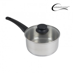 Connoisseur 18cm Stainless Steel Saucepan With Glass Lid