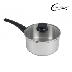 Connoisseur 20cm Stainless Steel Saucepan With Glass Lid