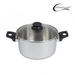 Connoisseur 24cm Stainless Steel Stockpot With Glass Lid