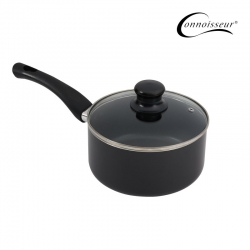 Connoisseur Pressed 18cm Non-stick Saucepan With Glass Lid - Click for more info