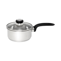 Wiltshire Stainless Steel Saucepan 16 cm with Glass Lid
