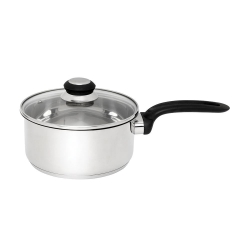 Wiltshire Stainless Steel Saucepan 18 cm with Glass Lid