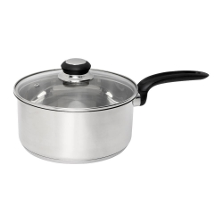 Wiltshire Stainless Steel Saucepan 20cm with Glass Lid