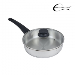 Connoisseur 24cm Stainless Steel Frypan With Glass Lid