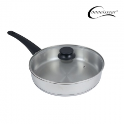 Connoisseur 28cm Stainless Steel Frypan with Glass Lid