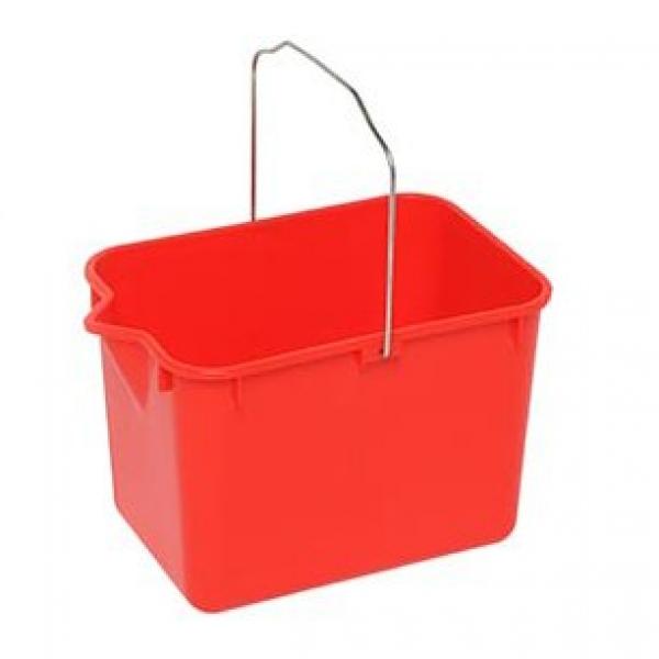 Rectangular Red Bucket