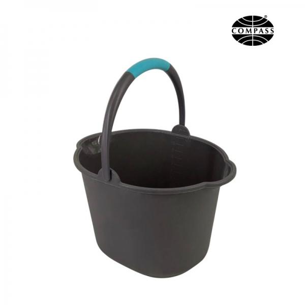 Grey Plastic Bucket 11L