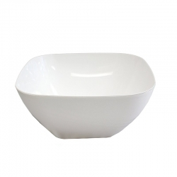 Salad Bowl Frosted White Plastic