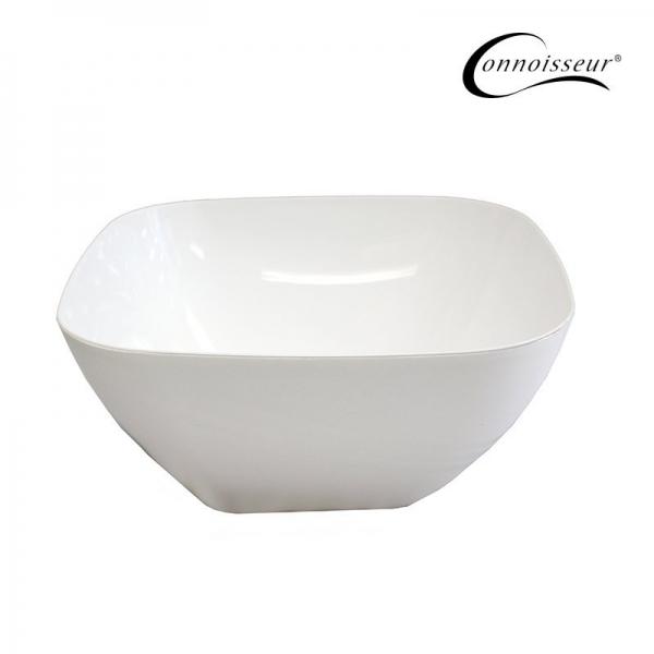 Salad Bowl White Plastic