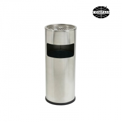 10L Stainless Steel Lobby Bin With Ashtray
