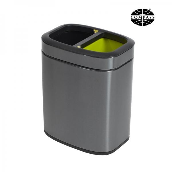 Rectangular Titanium Recycling Bin 10L