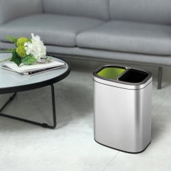 10L Rectangular Stainless Steel Recycling Bin