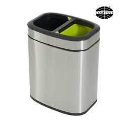 20L Rectangular Stainless Steel Recycling Bin - Click for more info