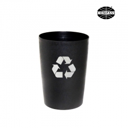 8L Round Tidy Recycling Bin Black