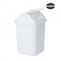 20L Rectangular White Swing Top Bin