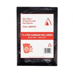 73 L Heavy Duty Black Bin Liner