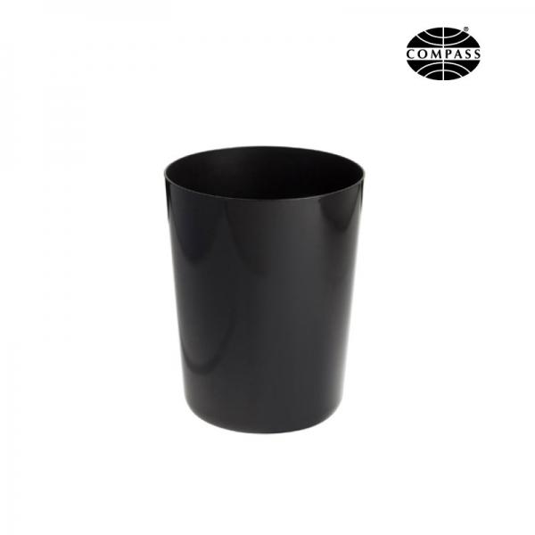 5L Waste Bin Black Melamine - Fire Resistant