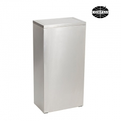 40L Rectangular Stainless Steel Swing Bin - Click for more info