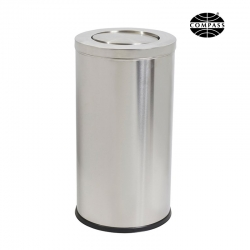 62L Swing Top Stainless Steel Bin