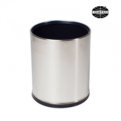 10L Round Stainless Steel Brushed Bin With Liner