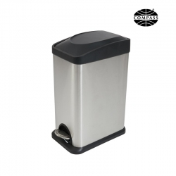 15L Stainless Steel Rectangular Pedal Bin