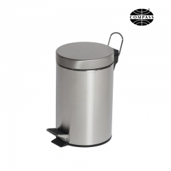 3L Round Stainless Steel Pedal Bin