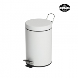 3L Powder Coated Pedal Bin White