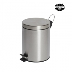 5L Round Stainless Pedal Bin