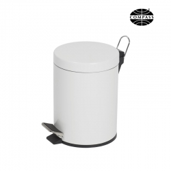 5L Powder Coated Pedal Bin White
