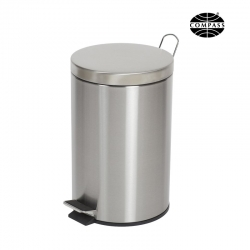 12L Round Stainless Steel Pedal Bin