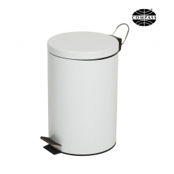 12L Powder Coated Pedal Bin White