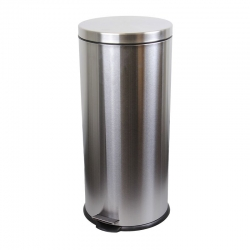 30L Round Stainless Steel Pedal Bin