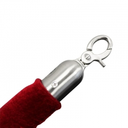 1.5M Velvet Rope with Clips Red
