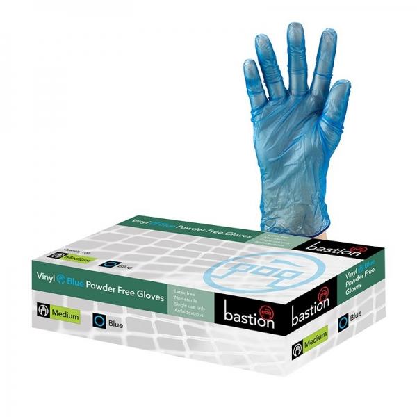 Blue Vinyl Gloves Medium (Pack of 100)
